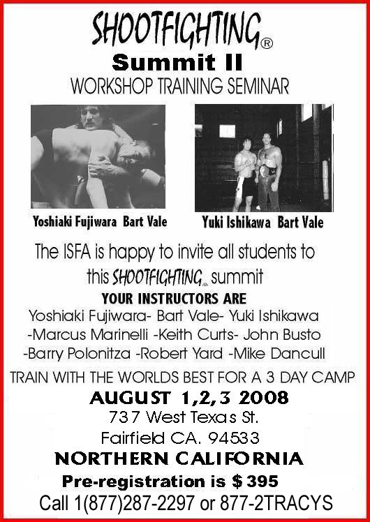 Fujiwara,UFC,Bart Vale,Shootfighting,Tracy's Karate,Tracy's Karate Studios,Martial Arts,Mixed Martial Arts,MMA